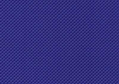 Square swatch of vinyl upholstery in royal blue geometric pattern